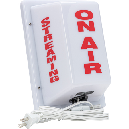 Sescom FSL-10 Triple-Sided Light Non-Flashing ON AIR on Front STREAMING on Two Sides Portable with Plug-in-Cord