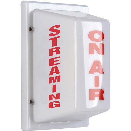Sescom FSL-9 Triple-Sided Light Non-Flashing ON AIR on Front STREAMING on Two Sides AC Hard-Wired
