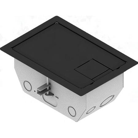 FSR RFL4.5-D1G-SLBLK 4.5 Inch Deep Back Box with 2 - 1 Gang Plates - Black Trim