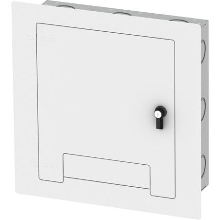 FSR WB-X2-WHT-C Flush-Mounted Locking Cover - White