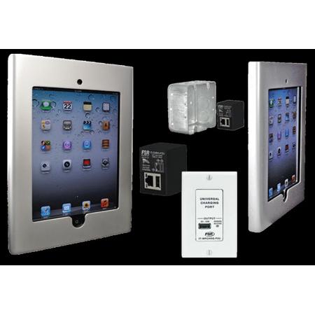 FSR WE-IPD2-SLV iPad 2 Enclosure - Mounts on 2 Gang Electrical Box - Silver