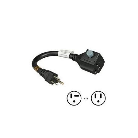 Furman ADP-1520B Adapter Cord 15A-20A with Circuit Breaker