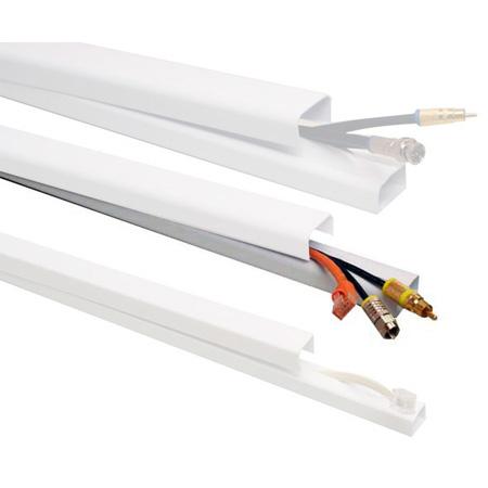 Quest FWH-12411 1 x 48 Inch Low Voltage Cable Raceway (EACH) - White