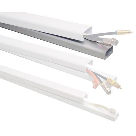 Quest FWH-13411  1 1/2 x 48 Inch Low Voltage Cable Raceway (Each) - White