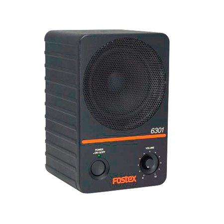Fostex 6301NE - 4 Inch Active Monitor Speaker 20W D-Class (Single) - Electronically Balanced