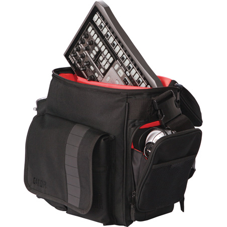 Gator G-CLUB-DJ-BAG DJ Bag for 35 LPs and Serato-Style Interface