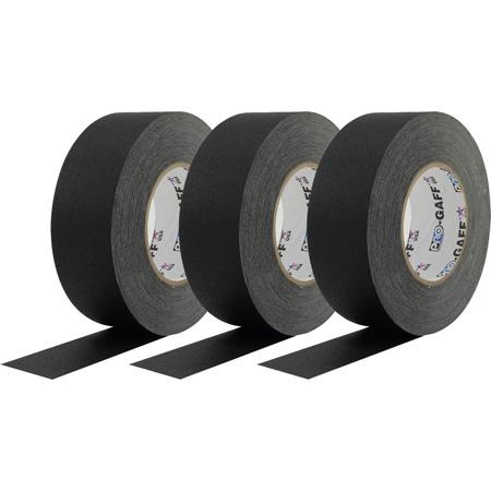 Pro Tapes Pro-Gaff Gaffers Tape BGT-60 3-Pack - 2 Inch x 55 Yards - Black