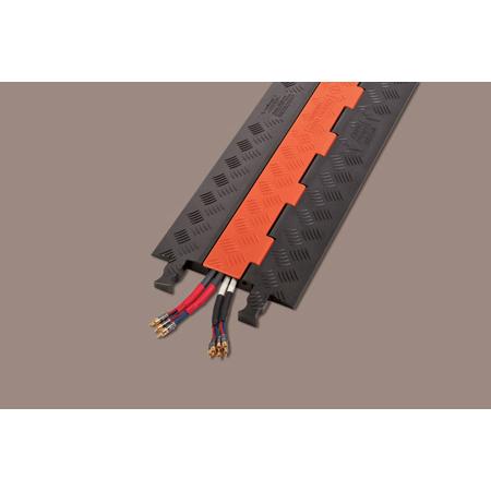 Guard Dog Low Profile-1 Channel w/Standard Ramps - 3 Foot - Orange Lid/Black Base