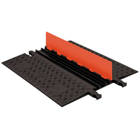 Guard Dog Low Profile-3 Channel with ADA Ramps - 3 Foot - Orange Lid/Black Base
