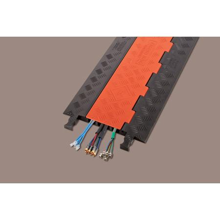 Guard Dog Low Profile-3-CH. w/Standard Ramps. Orange Lid/Black Base