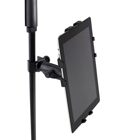 Gator Frameworks GFW-UTL-TBLTCLMP Adjustable iPad Tray with Clamp Mount - Fits Most Tablets