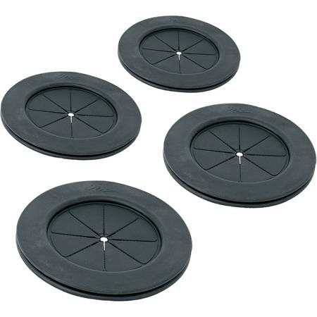 4 Inch Black Gland Grommet 4 Pack