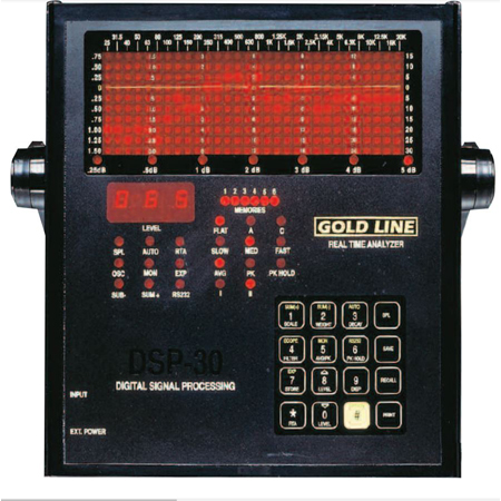 Gold Line DSP-30 Portable Digital Audio Analyzer with MK8A Instrument Microphone