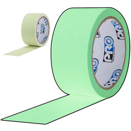 Pro Tapes 001UPCGL15M Pro-Glow Luminescent Glow Tape 1 Inch x 5 Yard Roll