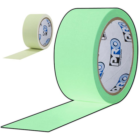 Pro Tapes 001UPCGL110M Pro-Glow Luminescent Glow Tape 1 Inch x 10 Yard Roll