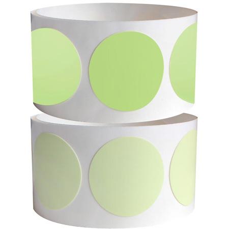 Pro Tapes 001GLDC1 Pro Glow Luminescent Glow Tape 1 Inch Dots 100 Per Roll