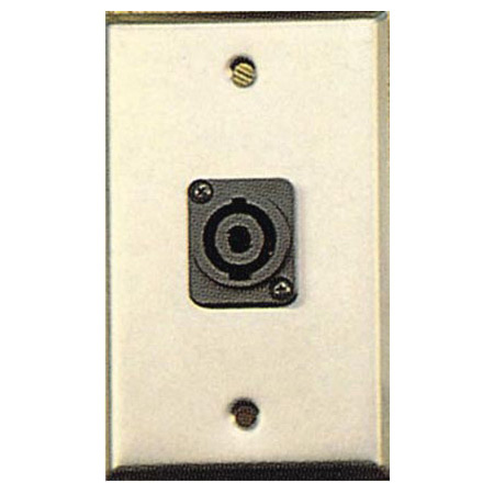 My Custom Shop GP-WPL1123 1-Gang Contractor Series Wall Plate w/ 1 speakON Style Connector