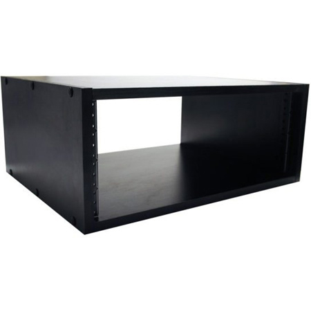 Gator GR-STUDIO-4U 15.5 Inch Deep 4U Studio Rack Cabinet - Black Oak Laminate