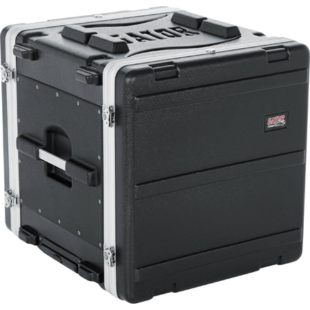 Gator GRR-10PL-US 10 Space Rolling Rack Case with built in PDU Power Strip
