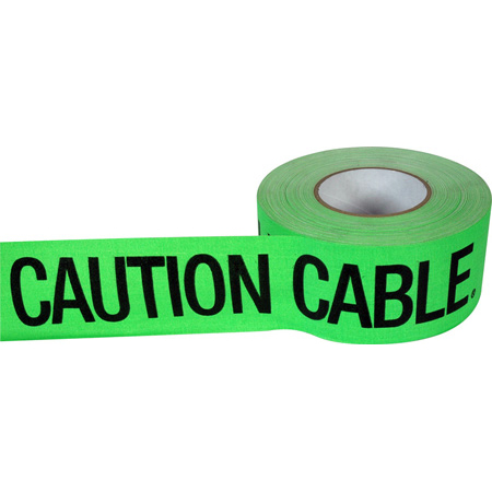 Pro Tapes 001CC350MFLGRN Hot Green CAUTION CABLE Tape 3 Inch x 60 Yard