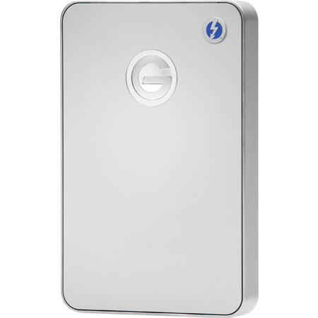 G-Tech 0G03040 G-DRIVE Mobile Thunderbolt USB 3.0 7200RPM Hard Drive- 1000GB - Silver