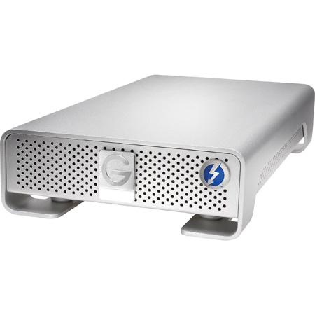 G-Tech 0G05024 G-DRIVE Thunderbolt 2 USB 3.0 7200RPM SATA III Professional Hard Drive - 10TB - Silver