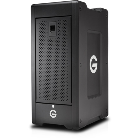G-Tech 0G05952 G-SPEED Shuttle XL with RAID Thunderbolt 3 8-Bay Storage and 2 ev Series Bay Adapters - 60TB - Black