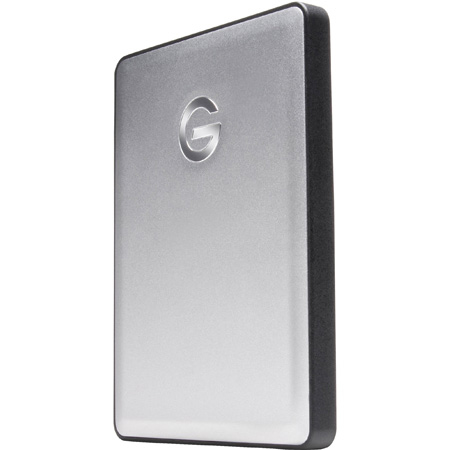 G-Tech 0G06072 G-DRIVE USB 3.0 Portable Hard Drive - 2TB - Aluminum Finish