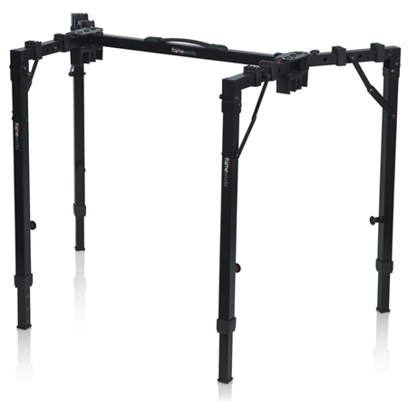 Gator GFW-UTL-WS250 Adjustable Folding Workstation for Keyboards Mixers & DJs with 250lb Weight Capacity