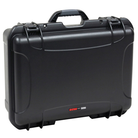 Gator GM-16-MIC-WP Waterproof Injection Molded Case with Foam Insert for 16 Handheld Mics & Accessories - Black