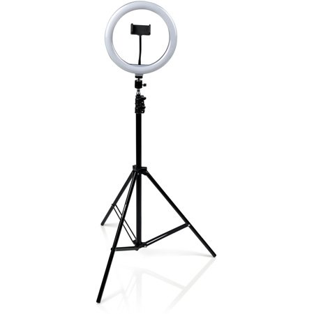 Gator GFW-RINGLIGHTTRIPD 10-Inch LED Ring Light Stand with Phone Holder & Tripod Base