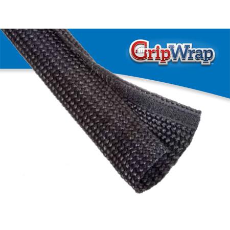 Techflex GWN1.00BK Grip Wrap 1 Inch Nominal 4.4375 Inch Flat Width Black 25 Ft.