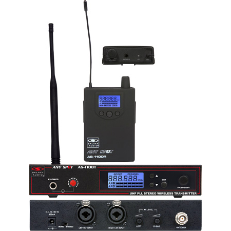 Galaxy Audio AS-1100D Wireless Personal In Ear Monitoring System Freq CODE D