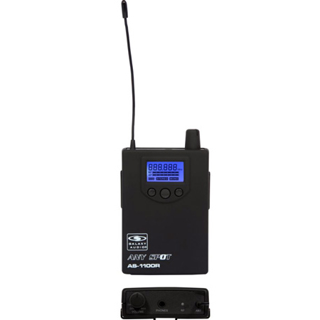 Galaxy Audio AS-1100R-N Wireless In-Ear Personal Monitor Body Pack Receiver - 518-542 MHz