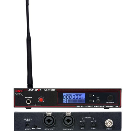 Galaxy Audio AS-1100T-N Wireless In-Ear Personal Monitor Transmitter - 518-542 MHz