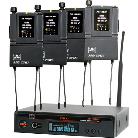 Galaxy Audio AS-1800-4 Four Person In Ear Wireless Monitor System Code B3 554-570 MHz