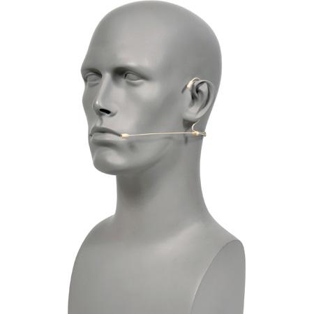 Galaxy HSM4-OBG-4MIXED Dual Ear Omni-Directional Headset Mic - Beige Audio Technica/Galaxy AKG/Sennheiser/Shure Cables