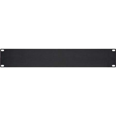 HBL2 2 Space (3 1/2in) 1/8in Flat Aluminum Blank Panel Black