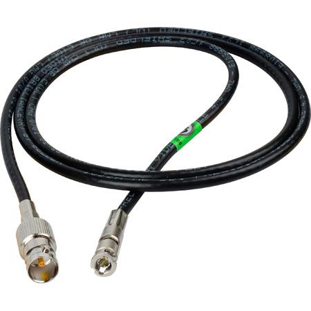 Laird HDBNC1695-BF01 Belden 1695A Plenum RG6 HD-BNC Male to BNC Female 6G/HD-SDI Cable - 1 Foot