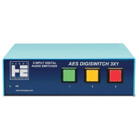 Henry Engineering AES DigiSwitch 3x1 3-Input AES Digital Audio Switcher