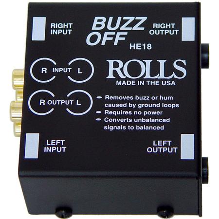 Rolls HE18 Buzzoff 2-Channel Audio Hum Eliminator