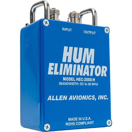 Allen Avionics HEC-2000H 75 Ohm Hum Eliminator With Handles