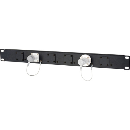 Camplex HF-1RU-06X 1RU 6-Position Universal SMPTE Feedthru Panel