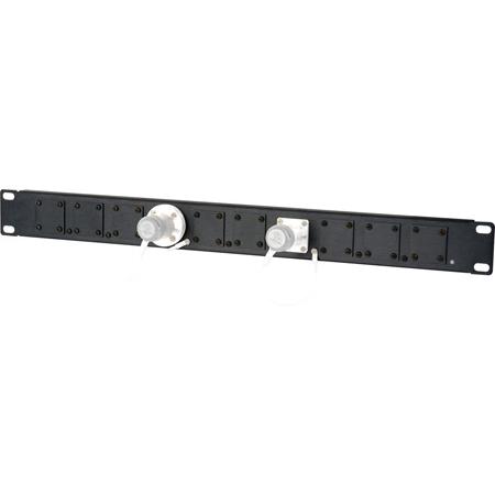 Camplex HF-1RU-10X 1RU 10-Position Universal SMPTE Feedthru Panel