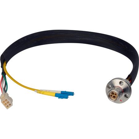 Camplex LEMO FXW to Duplex LC & 6-Pin Amp Power Fiber Breakout 6 Inch