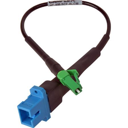 Camplex HF-SM-SCF-ALCM UPC SC Female to APC LC Male Single Mode Fiber Optic Tactical Adapter- 6 Inch