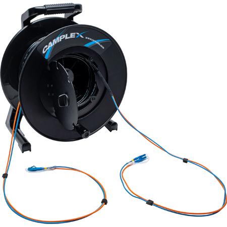 Camplex 2-Channel LC Singlemode Fiber Optic Premium Broadcast Tactical Snake Reel - 500ft