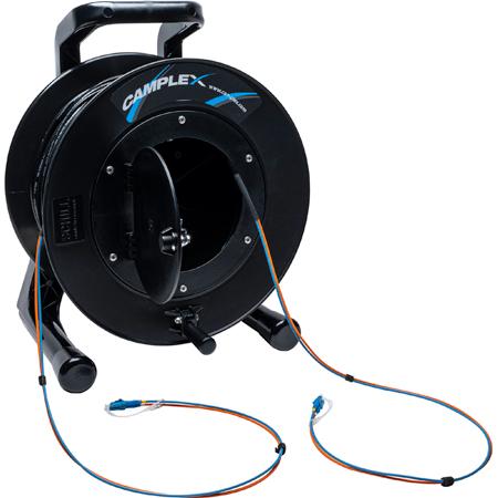 Camplex 2-Channel LC Singlemode Fiber Optic Premium Broadcast Tactical Snake Reel - 1000ft