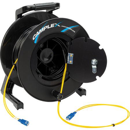 Camplex 2-Channel SC Singlemode Fiber Optic Tactical Snake Reel - 500 Foot