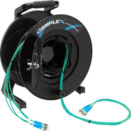 Camplex 4-Channel ST Multi Mode OM3 Fiber Optic Tactical Reel - 250 Foot
